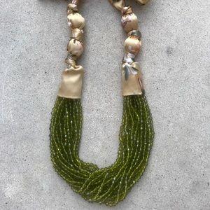Peridot Beaded Multiple Strand Necklace